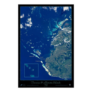 Tavarua & Namotu Islands, Fiji satellite poster