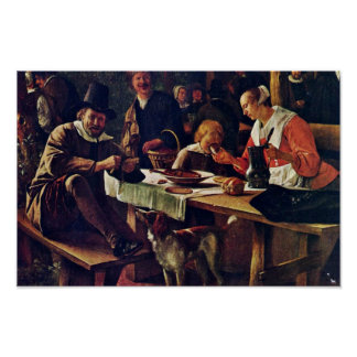 Tavern Garden Detail By Steen Jan (Best Quality) Poster