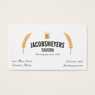 Tavern or Bar Beer Logo Business Card