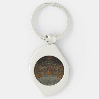 Tavern Silver-Colored Swirl Keychain