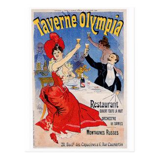 Taverne Olympia Vintage Restaurant Ad Art Postcard