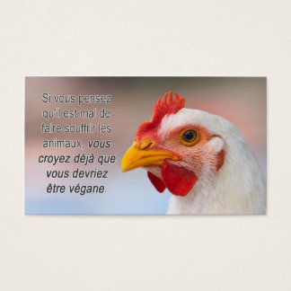 "TAVS ""Why veganism?"" Business Cards in French"