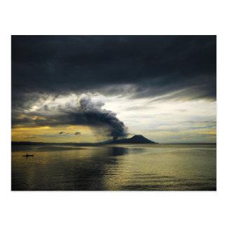 Tavurvur Volcano Rabaul Caldera Erupting Postcard