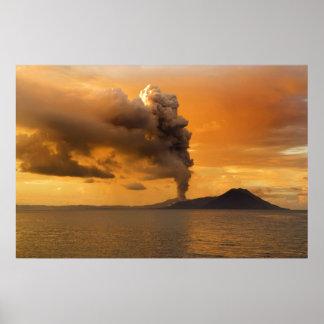 Tavurvur Volcano Rabaul Caldera Erupting Poster