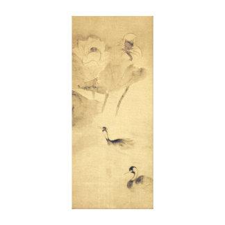 Tawaraya Sōtatsu Waterfowls in Lotus Pond Canvas Print