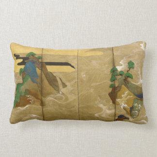 Tawaraya Sotatsu Waves at Matsushima Lumbar Pillow