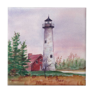 Tawas Point Lighthouthouse Tile