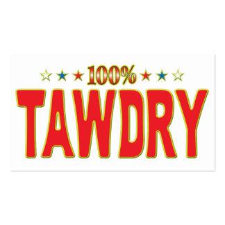 Tawdry Star Tag Business Card Templates