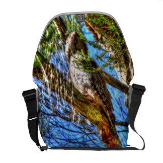TAWNY FROGMOUTH OWL AUSTRALIA ART EFFECTS COURIER BAG
