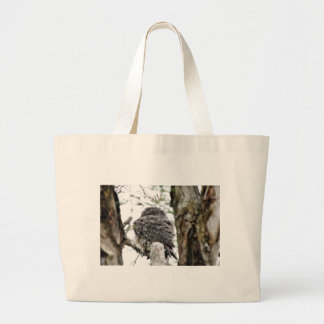 TAWNY FROGMOUTH OWL RURAL QUEENSLAND AUSTRALIA LARGE TOTE BAG