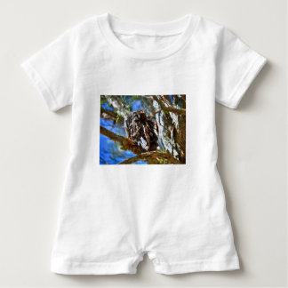 TAWNY FROGMOUTH RURAL QUEENSLAND AUSTRALIA BABY ROMPER