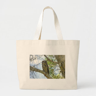 TAWNY FROGMOUTH RURAL QUEENSLAND AUSTRALIA LARGE TOTE BAG