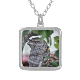 TAWNY FROGMOUTH RURAL QUEENSLAND AUSTRALIA SILVER PLATED NECKLACE