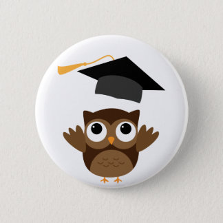 Tawny Owl Throwing Its Graduation Cap Button
