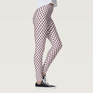 Tawny Port Polka Dots Leggings