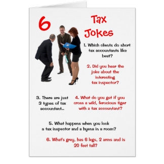Tax - 6 Tax Jokes Funny Birthday Card