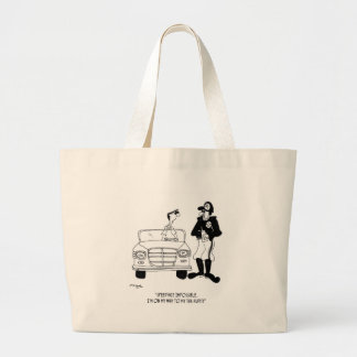 Tax Cartoon 9504 Large Tote Bag