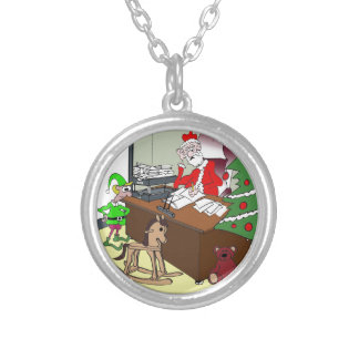 Tax Cartoon 9532 Silver Plated Necklace