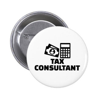 Tax consultant 2 inch round button
