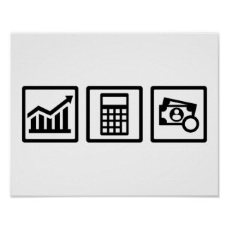 Tax consultant icons poster