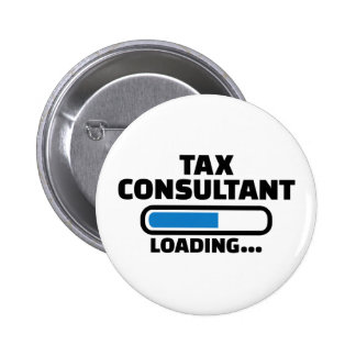 Tax consultant loading 2 inch round button