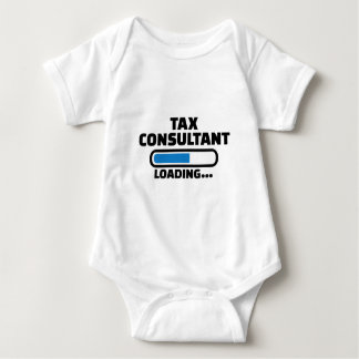 Tax consultant loading baby bodysuit