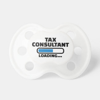 Tax consultant loading baby pacifiers