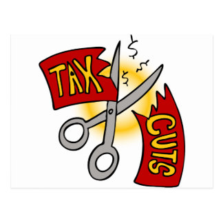 Tax Cuts Cartoon Postcard