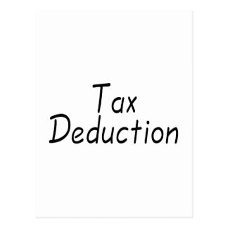 Tax Deduction Postcard