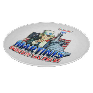 Tax Free Martinis GLASS CUTTING BOARDS