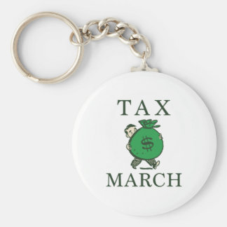 Tax March Keychain