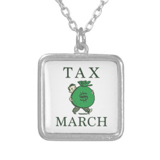 Tax March Silver Plated Necklace