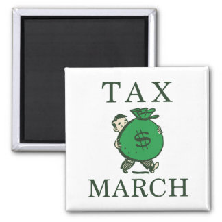 Tax March Square Magnet
