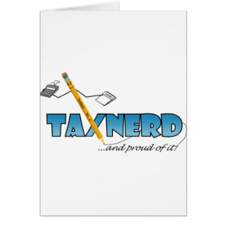 Tax Nerd Greeting Card Vertical