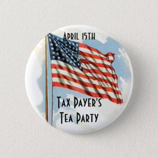 Tax Payers Tea Party 2 Inch Round Button