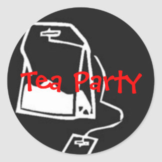 Tax Payer's Tea Party Classic Round Sticker