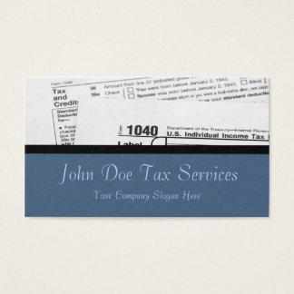 Tax Preparer Federal Tax Form Business Card