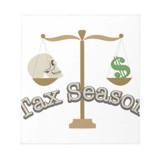 Tax Season Notepad