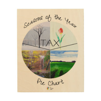 Tax Season Pie Chart Wood Wall Art