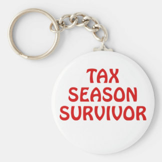 Tax Season Survivor Keychain