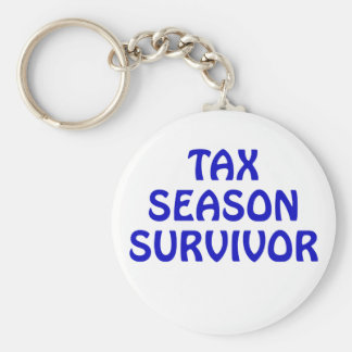 Tax Season Survivor Keychain