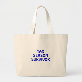 Tax Season Survivor Large Tote Bag