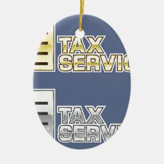 Tax Service Vector Ceramic Ornament