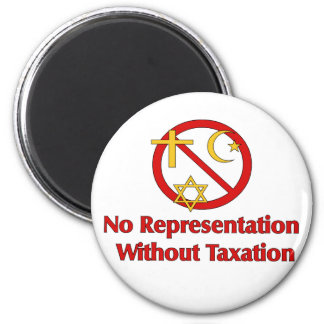 Tax The Churches 2 Inch Round Magnet