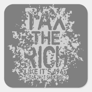Tax the Rich Square Sticker