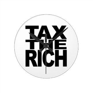 Tax The Rich Wallclock