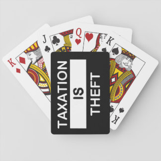 Taxation is Theft Playing Cards