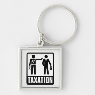Taxation Is Violence Keychain