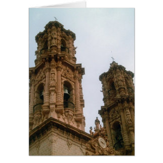 Taxco Cathedral Bell Towers Card