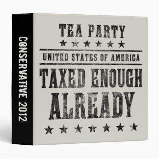 Taxed Enough Already Vinyl Binder